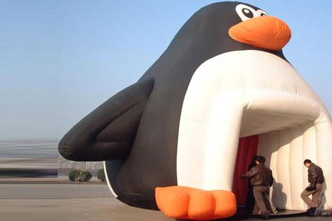 充氣卡通企鵝帳篷